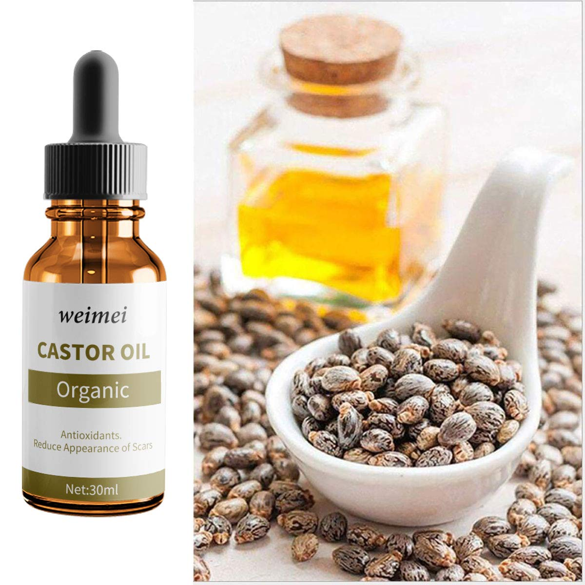 Castor Oil Cold Pressed Castor Oil Boost Growth For Eyebrows