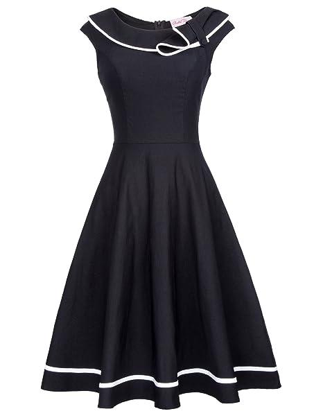 Vestido retro de la longitud de la rodilla del vestido de la vendimia de las señoras