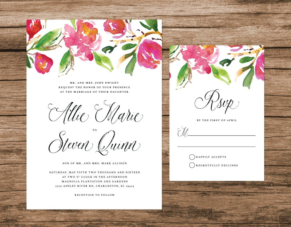 Magnolia Wedding Invitation, Carolina Wedding Invitation, South Carolina Wedding, Magnolia Flowers