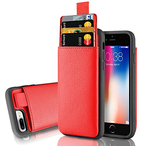 promo code e52e7 03ec9 LAMEEKU iPhone 8 Plus Wallet Case, iPhone 7 Plus Wallet Case, Protective  iPhone 8 Plus Card Holder Case with Credit Card Slot, Leather Cover for  Apple ...