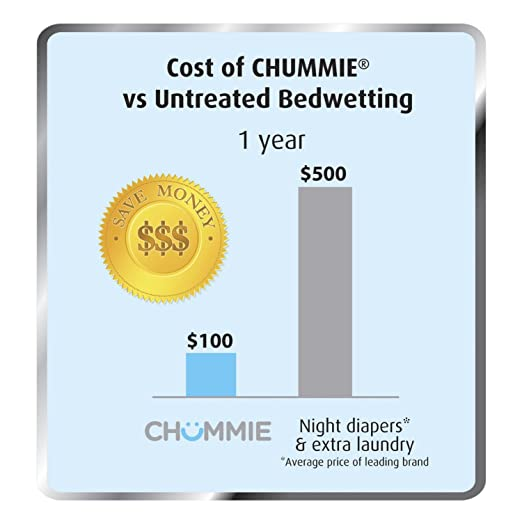 Chummie Elite Bedwetting Alarm for Children and Deep Sleepers - Award Winning Bedwetting Alarm System with Loud Sounds and Strong Vibrations, Blue