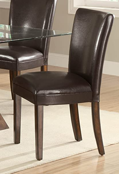 Coaster Home Furnishings 103053 Casual Dining Chair, Brown/Brown, Set Of 2
