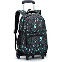 Boys Rolling Backpacks Kids' Luggage Wheeled Bags girls Trolley School Bags Fashion Printed Durable Bookbag With Six…