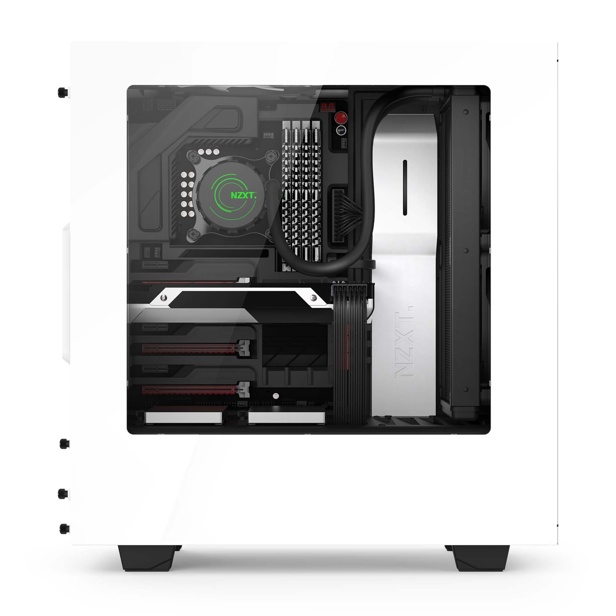 NZXT S340 Mid Tower Computer Case, White (CA-S340W-W1) by Nzxt (Image #9)