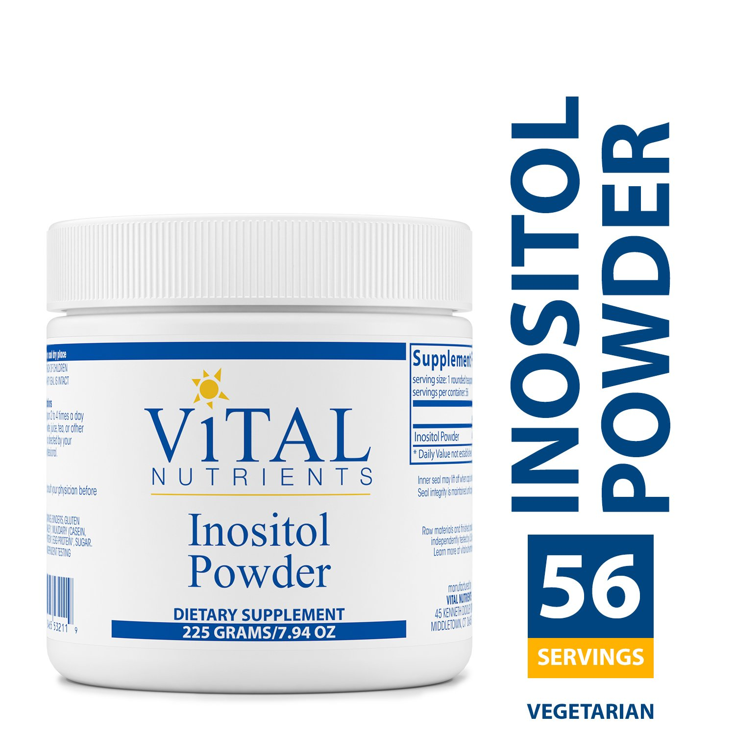 Vital Nutrients - Inositol Powder - Healthy Neurotransmitter Metabolism Support - 225 Grams