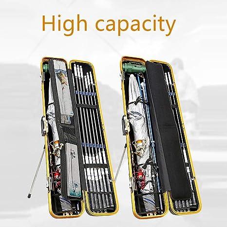 Angeltasche Rod Case Angelrutentr/äger Tragbare Leinwand Angelrute Fall Angelrute Reel Aufbewahrungstasche Fangger/äte Organizer 126 cm Color : Silver BQY Rutentasche