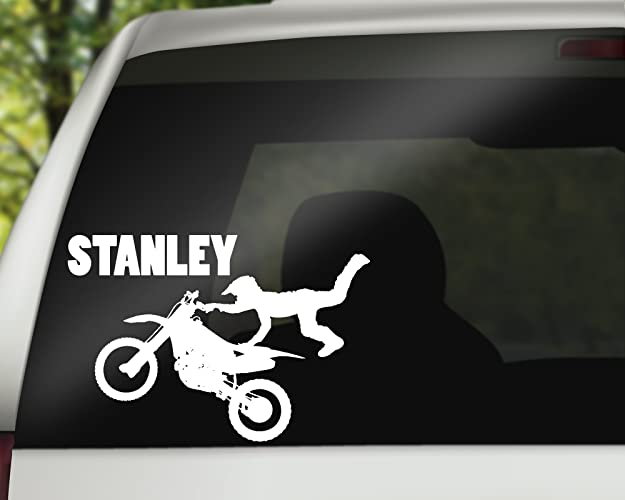 Motocross vinyl car decal personalised fun bumper sticker gift