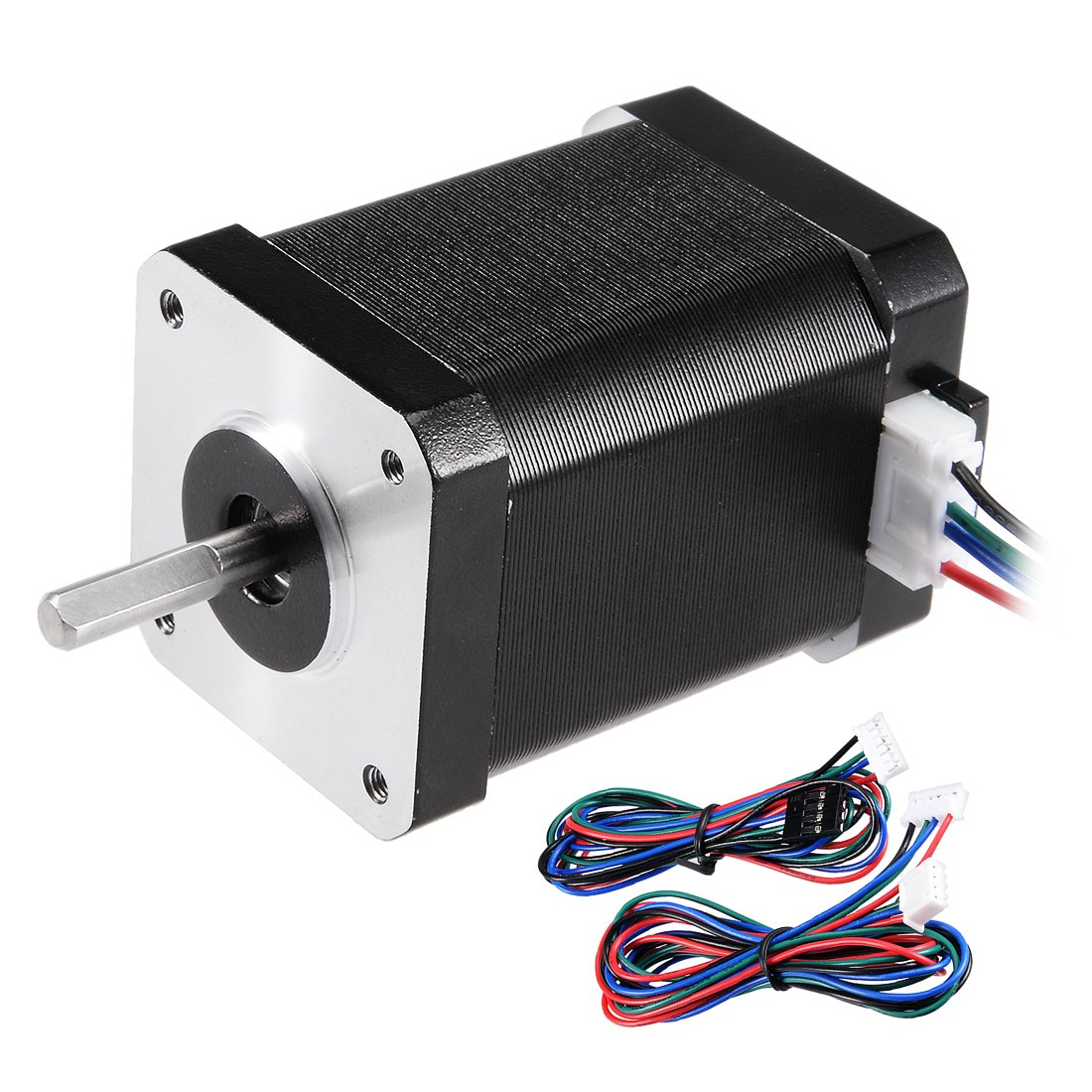 uxcell Stepper Motor Nema 17 Bipolar 20mm 0.65NM 1.2A 3.5V 4 Lead Cables for 3D Printer CNC Router Laser Lathe Machine Stage Light Control DIY Hobby