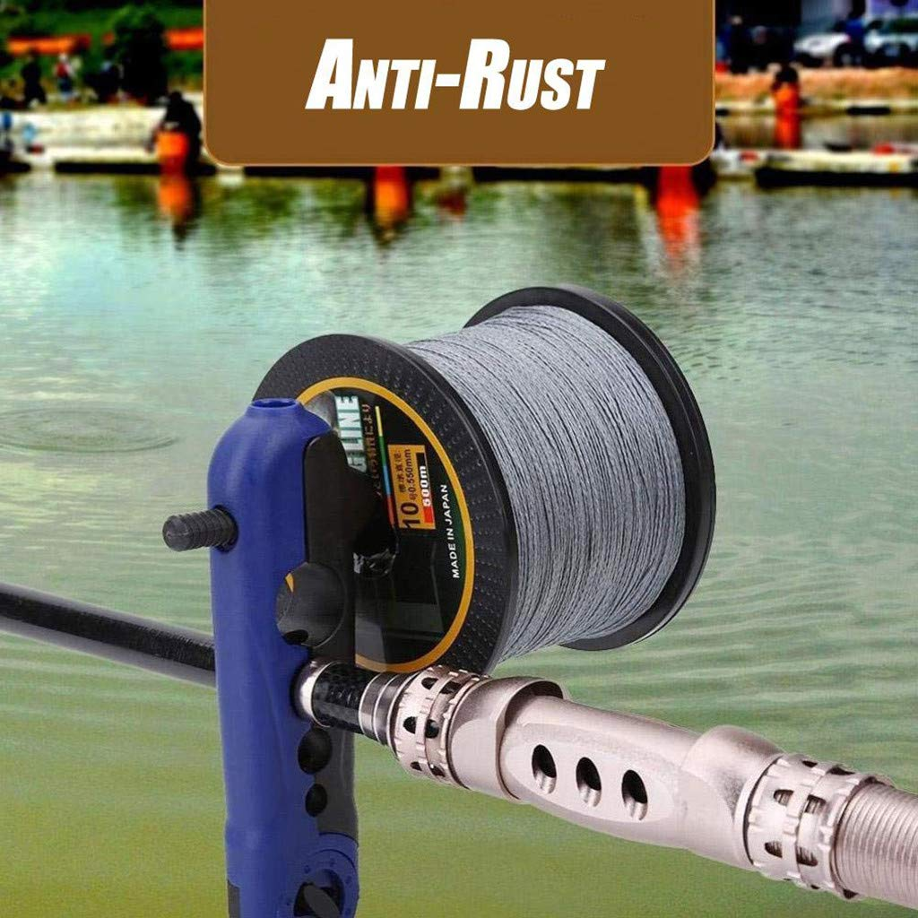 Portable Fishing Line Spooling Accessories Fishing Line Winder Reel Spooler Machine Spooling Station Easy Line Spooler Size: Approx. 16.5 x 4cm // 6.5 x 1.57inch, Blue
