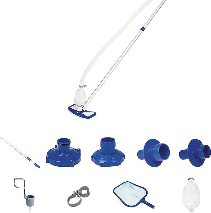 Bestway 8320510 - Kit mantenimiento limpiafondos con cesta y pértiga: Amazon.es: Jardín