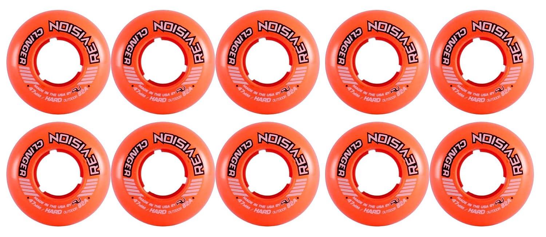 Revision Wheels Inline Roller Hockey Clinger Goalie オレンジ 47mm 82A 10-Pack