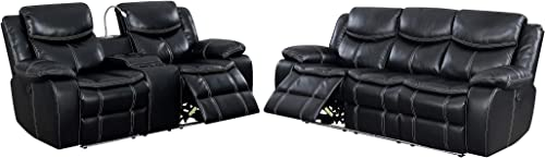 247SHOPATHOME Cadell 2-Piece Power Reclining Sofa Set, Black