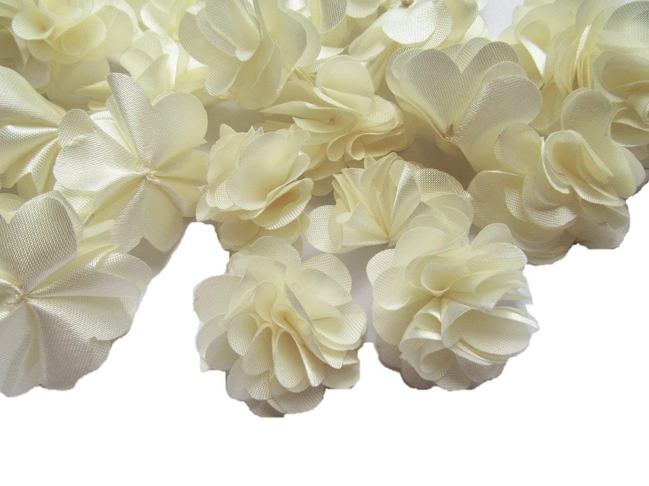 YYCRAFT-20pcs-1-14-Handmade-Sewn-Satin-Flowers-DIY-Flower-for-Headbands-CraftWedding-Party-Decoration