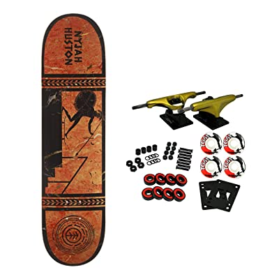 "Element Skateboards Complete Greek Gods Nyjah Huston 8.1"" : Sports & Outdoors"