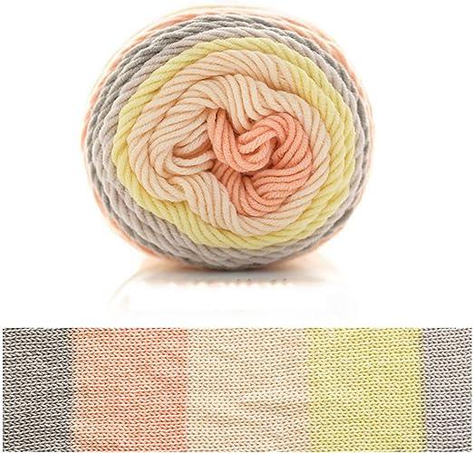 goneryisour The New Rainbow Hilo de algodón para Tejer – 5 Hilos ...
