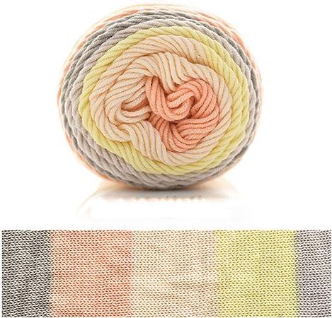 goneryisour The New Rainbow Hilo de algodón para Tejer – 5 Hilos de Ganchillo Tejido a Mano para Manta – Hecho a Mano Regalo Hilo de Tejer 100 g: Amazon.es: Hogar