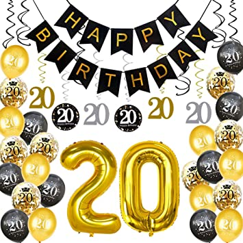 20th Birthday Decorations Party Supplies