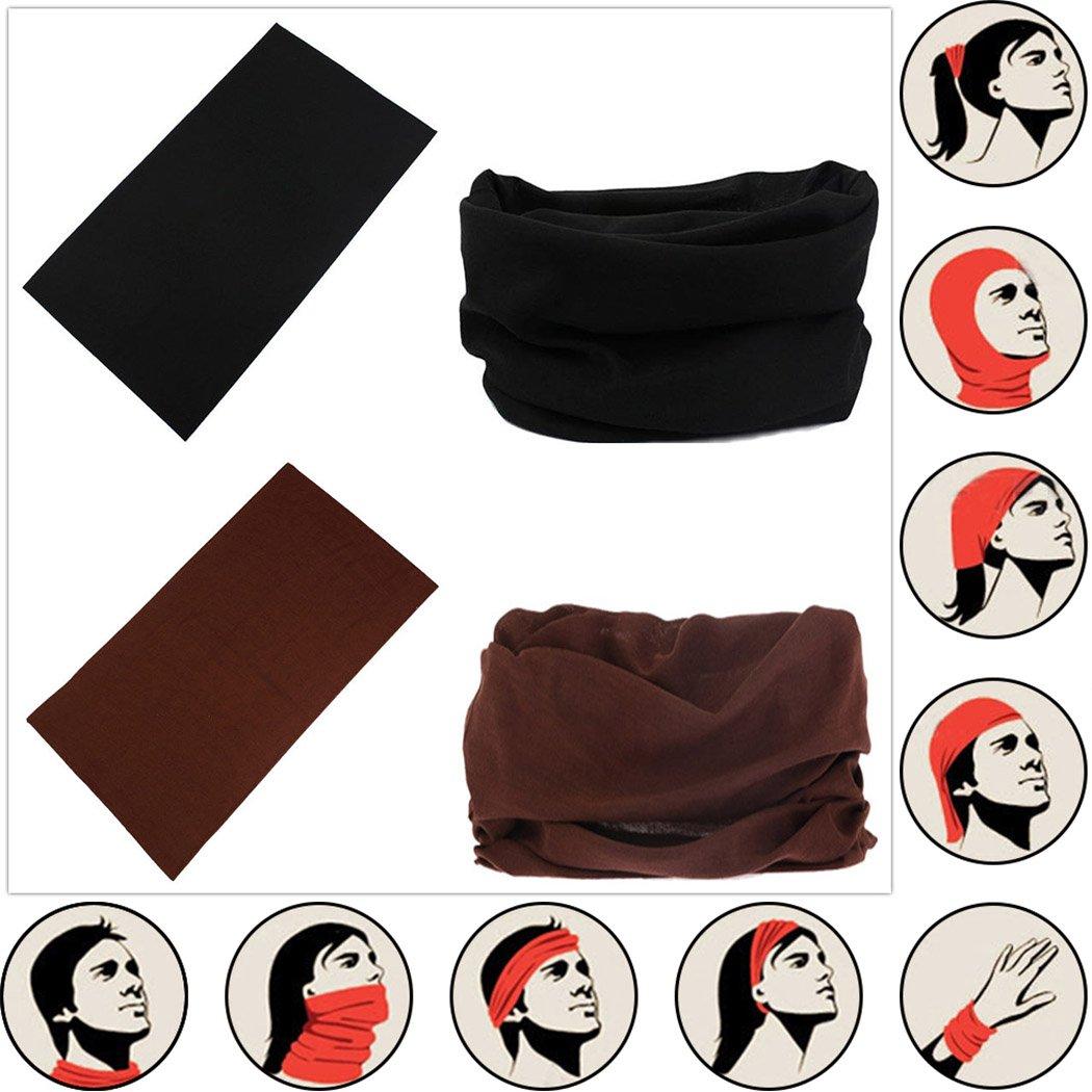Headwear Head Wrap Sport Headband Sweatband 220 Patterns Magic Scarf 12PCS & 6PCS 12 in 1 By VANCROWN (12PCS.Solid Color) by VANCROWN (Image #6)