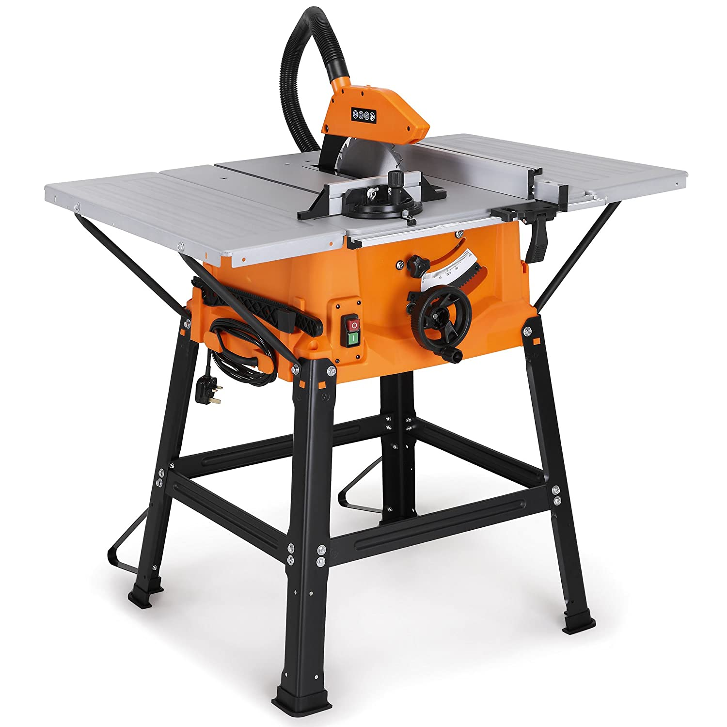 Vonhaus 1800w 10 250mm Table Saw With 5500rpm Underframe Wiring For 220v Circular Mitre Function High Spec Attachable Sides Make Longitudinal Angle