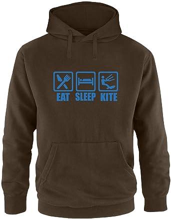 EZYshirt® Eat Sleep Kite Herren Hoodie