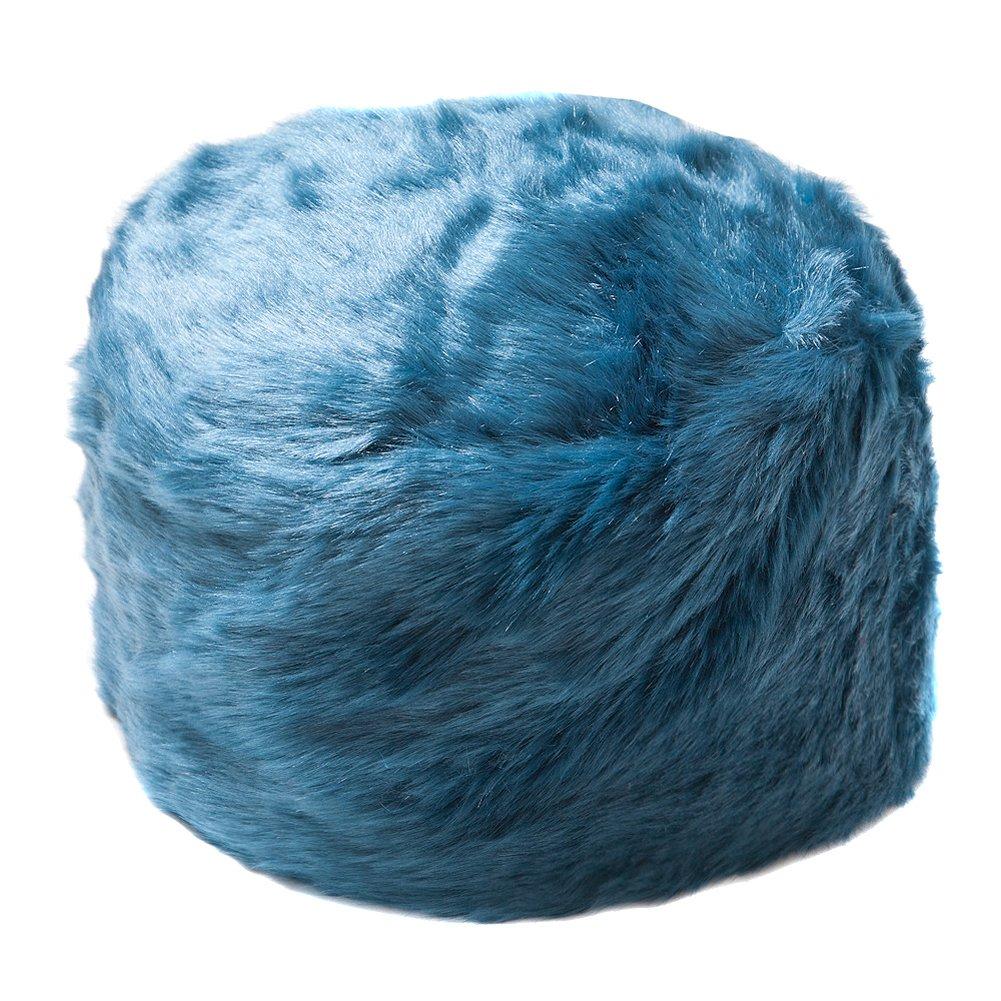 Women's Teal Faux Fur Cossack Style Russian Hat
