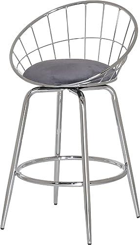 Hillsdale Furniture Bullock Counter Height Swivel Stool, Gray