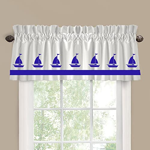 Sailboat Boat Window Valance Window Treatment – In Your Choice of Colors – Custom Made