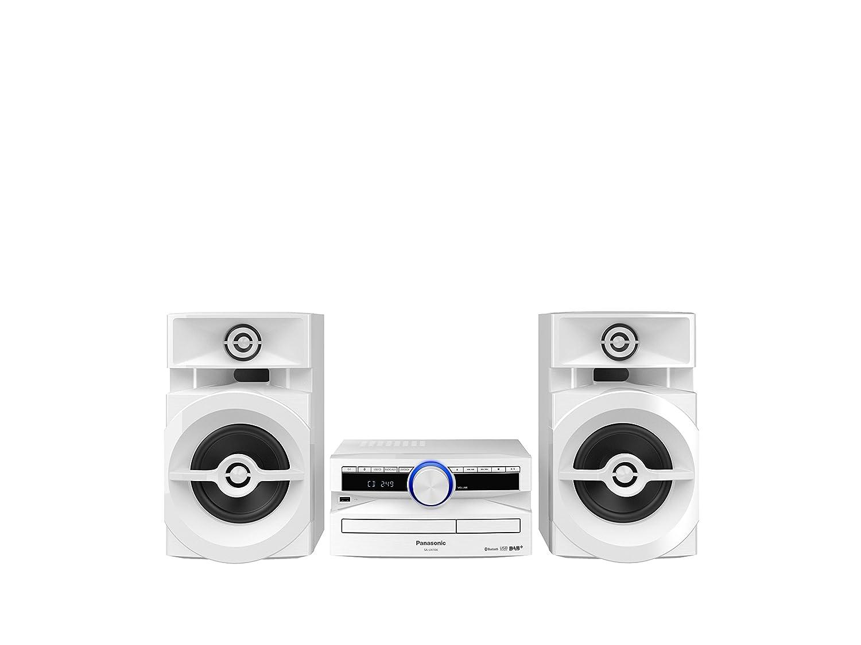 Panasonic SC-UX104EG-K CD Musiksystem (Bluetooth, Radio Tuner (DAB+/FM), USB, AUX-IN, DJ Jukebox, 300 Watt RMS, schwarz)