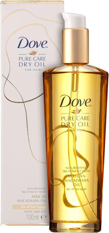 Dove – Puro cuidado aceite seco tratamiento para cabello no grasa, 100 ml – pack de 2: Amazon.es: Belleza