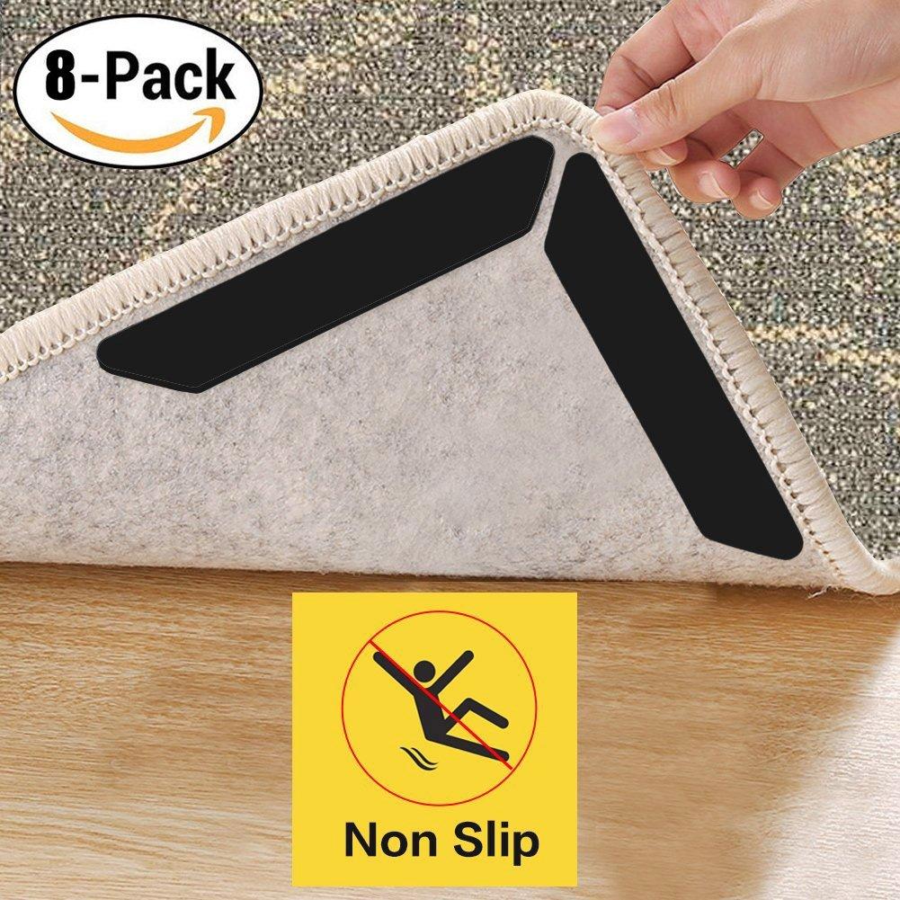 XIYUNTE imbottiture antiscivolo per tappeto – 8PCS moquette sticker ...