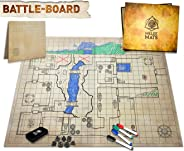 The Original Battle Grid Game Board - 23x27 - Dungeons and Dragons Set - Dry Erase Square & Hex RPG Miniatures Mat - DnD 5th
