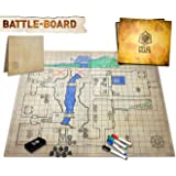 The Original Battle Grid Game Board - 23x27 - Dry Erase Square & Hex RPG Miniatures Mat - Tabletop Role-Playing Dice Map - Po