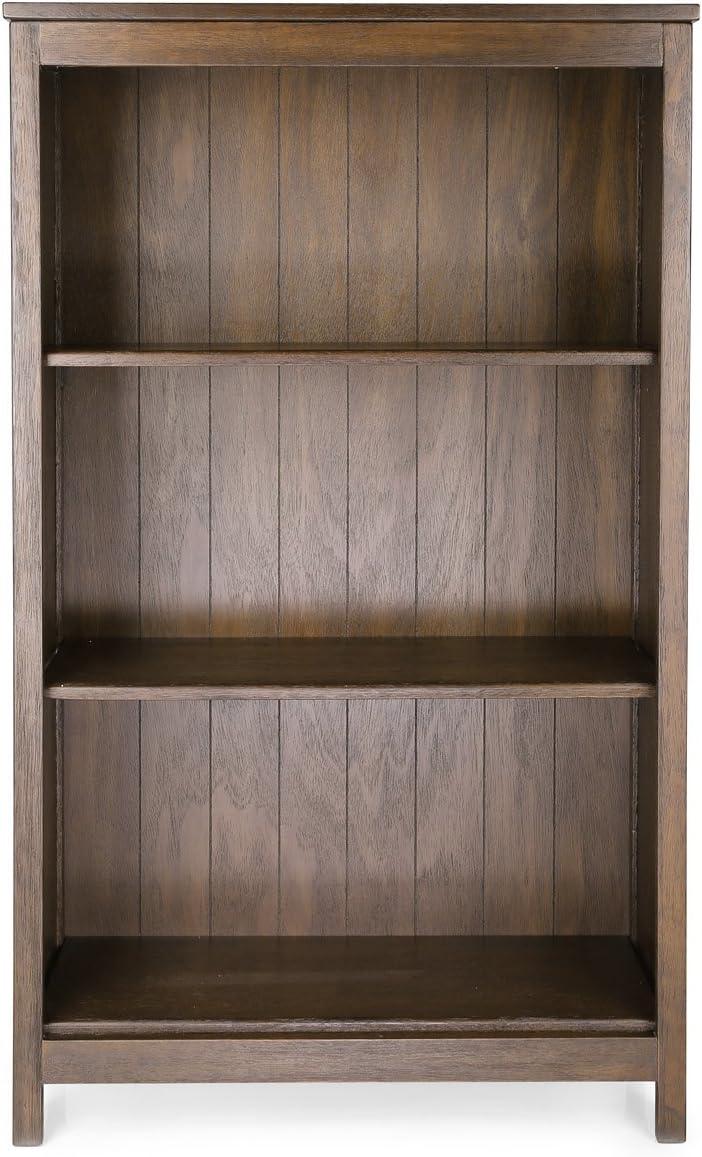 Marrone 115/x 70/x 32 Livelli Legno Penguin Home 3092 Solido Rustico Custodia a Libro Pieghevole a 4/Ripiani 123.19/x 77.47/x 12.06/cm