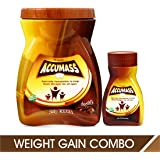 Accumass Weight Gainer Combo Pack (Granules 525gm + Capsules 60Caps) with Shatavari, Draksha, Ashwagandha, Mass Weight Gainer, Herbal Weight Gain