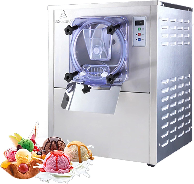 Máquina Comercial de Helado Duro Fabricante de Helados Máquina para Hacer Helados Acero Inoxidable Máquina de Yogur Helado y Sorbete 1400W 20L/h Limpieza automatica
