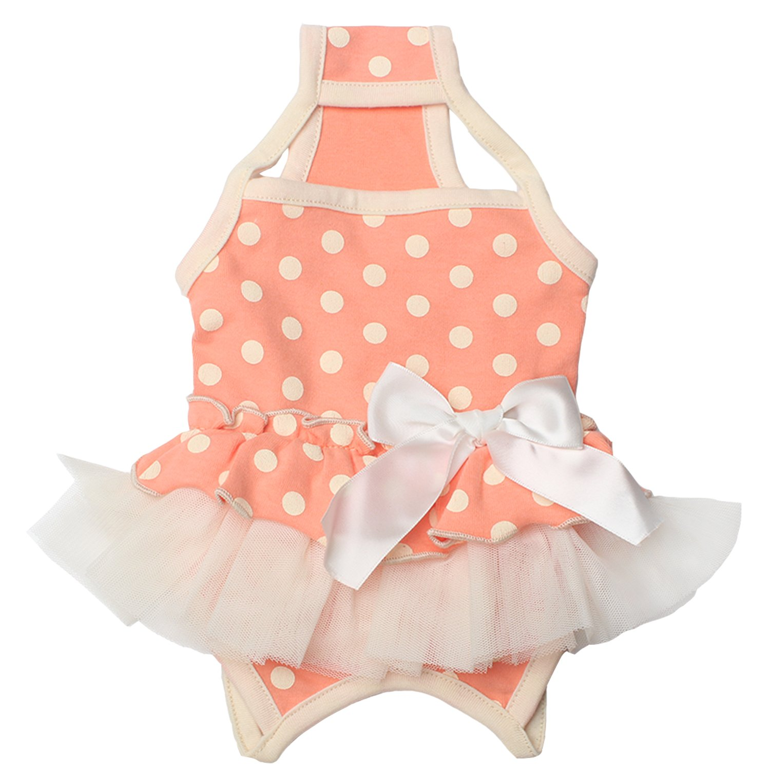 TONY HOBY Pet Dog Summer Braces Dresses Shirts Dog Skirts Suspenders With Cute Polka Dots For Small Dogs