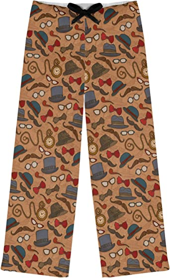 Personalized Brown L Vintage Hipster Womens Pajama Pants