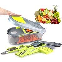 Kilokelvin Mandoline Slicer Professionale food chopper: più grande capacità 1500ml contenitore coperchio 9 lame Dicing & Multifunzione grattugia da cucina con 12 Sets cipolla chopper, cucina grattugia per verdure, frutta e patato cutter