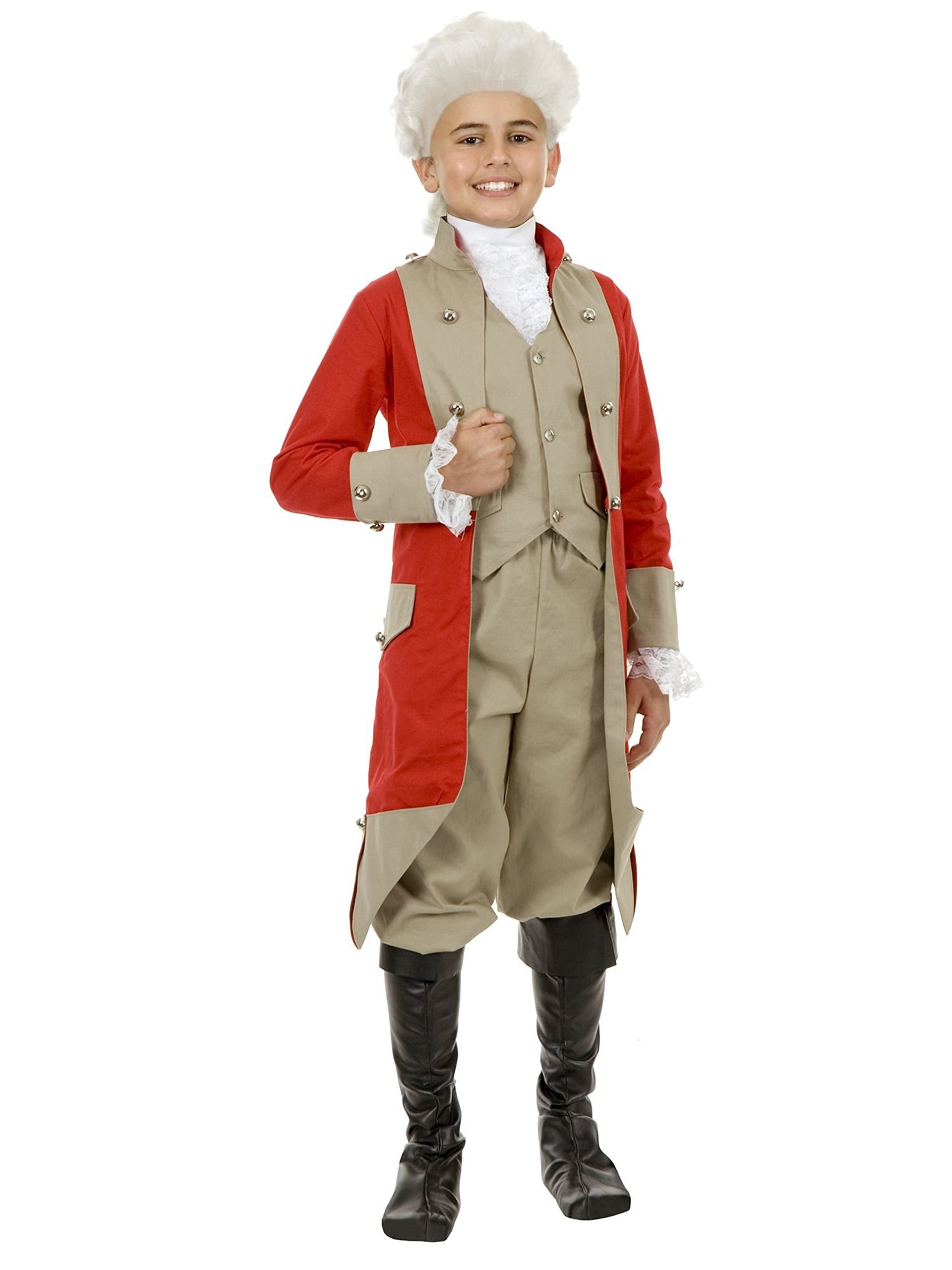 Kids British Red Coat Costume XL by Charades