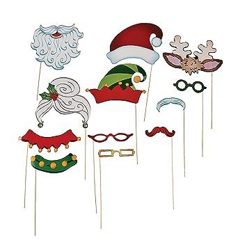 christmas santa elf stick costume photo booth props 12 pcs