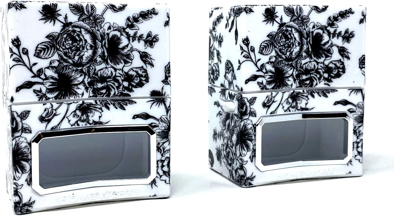 HomeWorx by Harry Slatkin Set of 2 Plug In Diffusers (Black Toile)