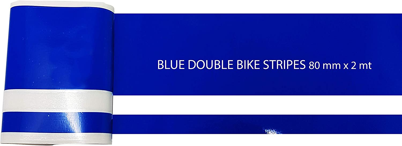 4R Quattroerre.it 10653 Strisce Adesive Bike R Stripe Double per Moto Blu