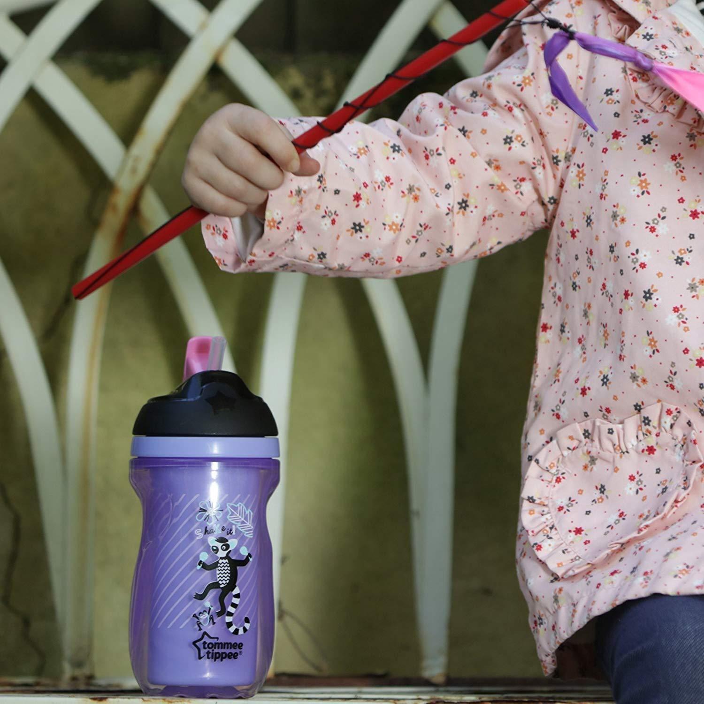 botella aislada sin BPA Tommee Tippee Straw Cup Biberones de entrenamiento de 300 ml para edades de 12 meses p/úrpura