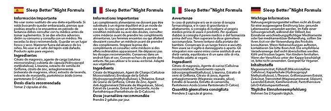 Pastillas para dormir - Con Lavanda y Manzanilla - 120 Cápsulas - 2 Meses de suministro - Simply Supplements: Amazon.es: Salud y cuidado personal