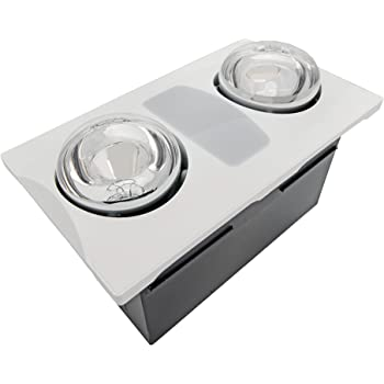 Aero Pure A515a W 2 Bulb Quiet Bathroom Heater Fan With