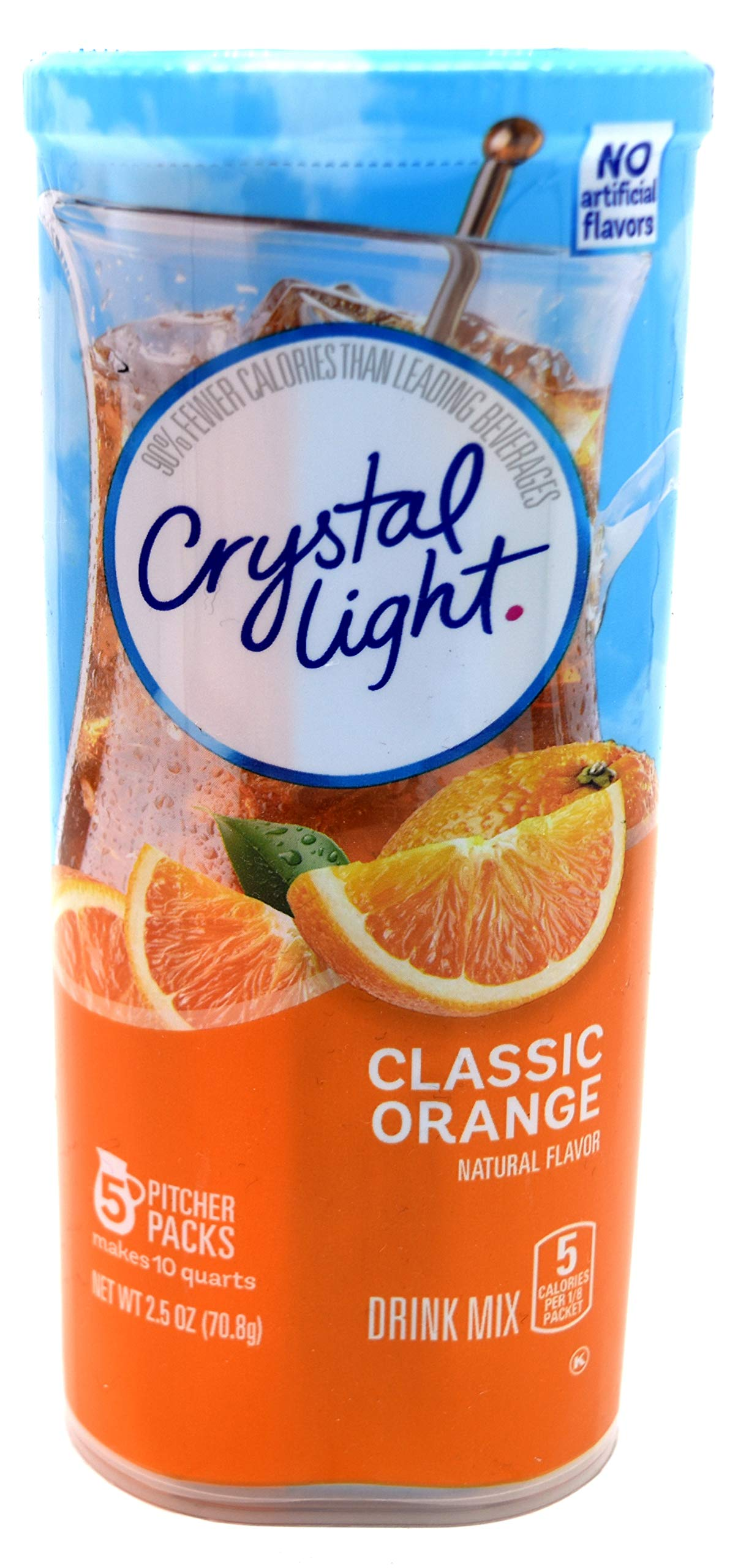 Crystal Light Classic Orange Drink Mix, 10-Quart Canister (Pack of 7)