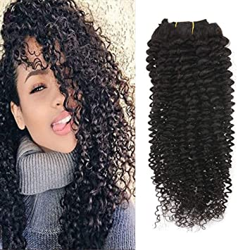 Full Shine 10 7 Pcs 100g Curly Hair Clip Ins For African Hair Extensions American Women Natural Hair Full Head Clip In Remy Human Hair Extensions