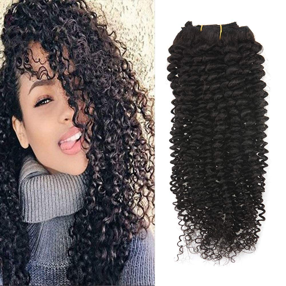 Amazon Full Shine 10 7 Pcs 100g Curly Hair Clip Ins For