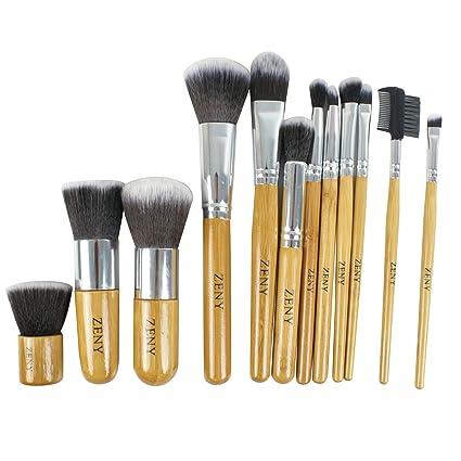 Amazon.com: Zeny 11 + 1 pieza Maquillaje Juego de brochas ...