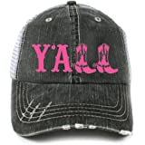Katydid Southern Girl Trucker Hat-brown hot pink at Amazon Women s ... c7b25f711a46